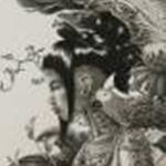 阿波野由起夫:京都市立芸術大学『巫女/A Priestess』<br />700×530,額入サイズ915×715